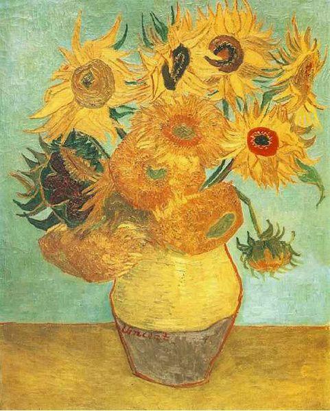 Vase avec douze tournesols 1889