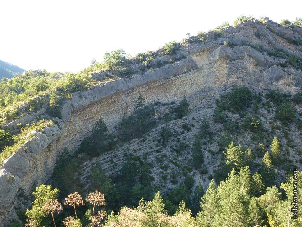 Le paysage à la sortie de Saint-Benoît au dessus des gorges de la Roanne