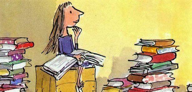Matilda (illustrée par Quentin Blake) ou bien Manou quand elle était petite...c'est comme vous voulez !