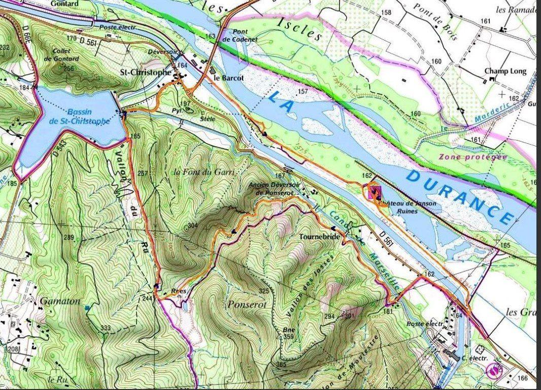 La vallée de la Durance, le canal de Provence et le canal de Marseille