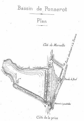 Plan du bassin de décantation