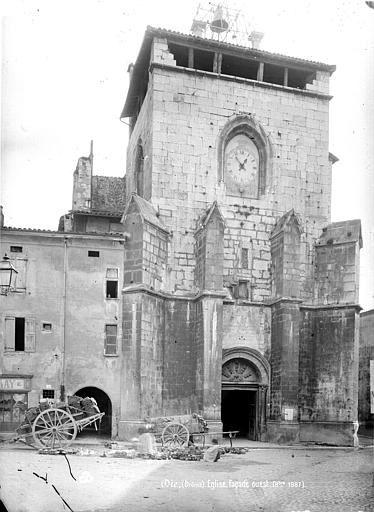 Photo ancienne de la cathédrale avec sa terrasse...