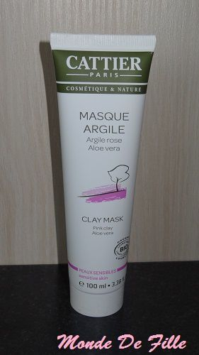 Masque à l'Argile Rose de Cattier