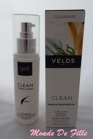 Clean Clean Clean Huile Démaquillante de Veld's