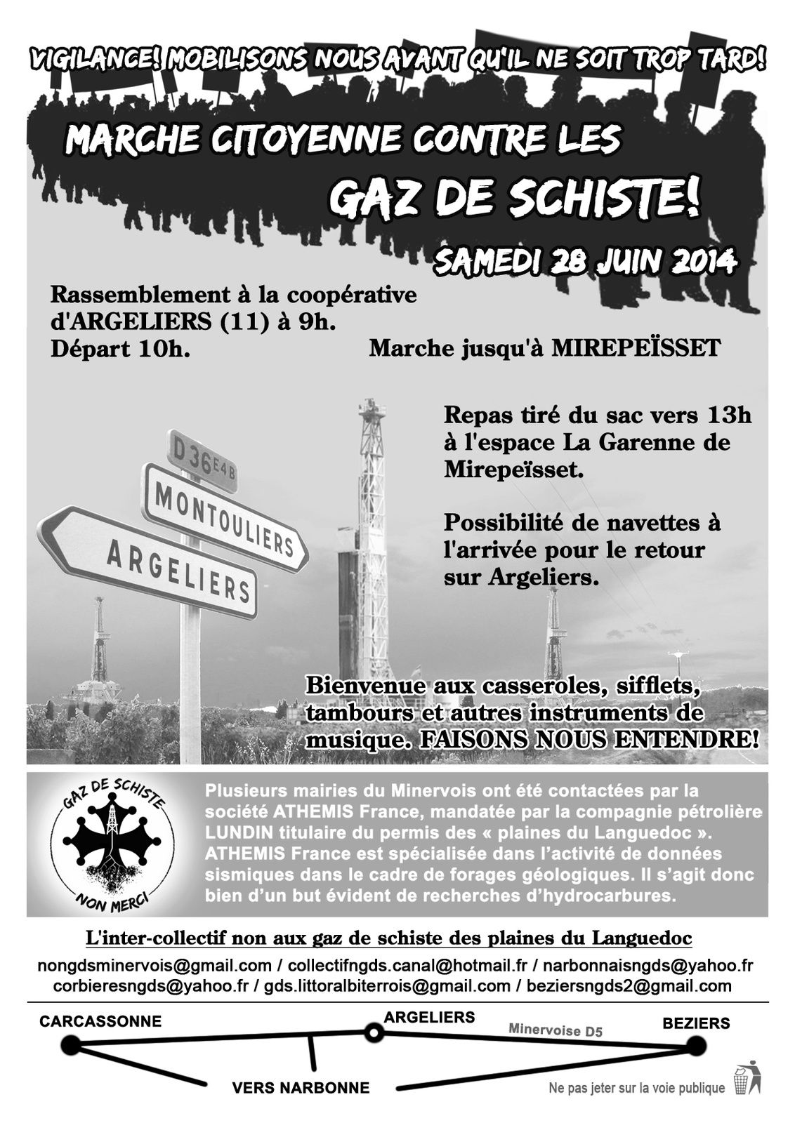 GHDS : MARCHE PROTESTATAIRE A  ARGELIERS