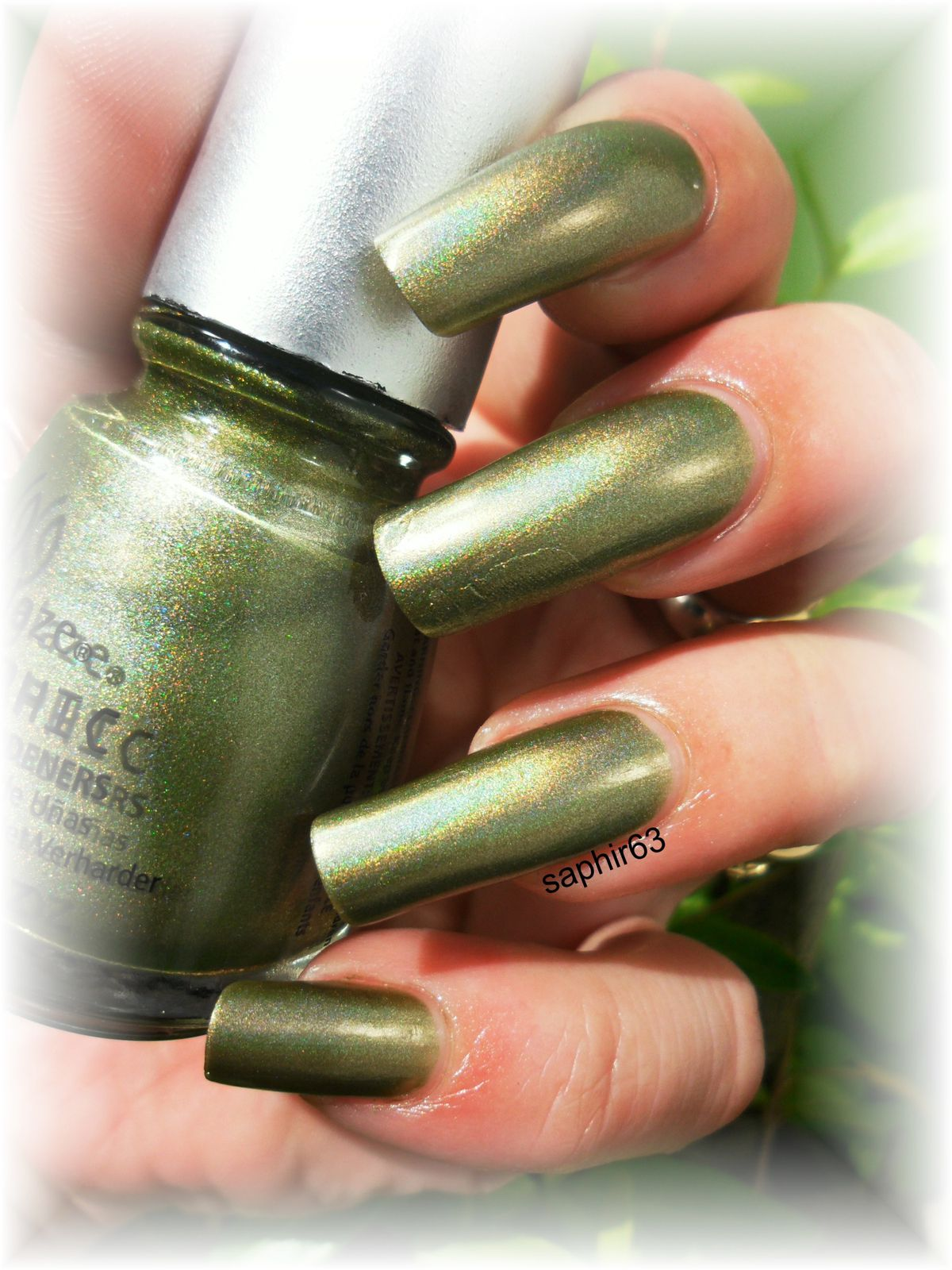 vernis china glaze omg a ufo holo - nails papillons