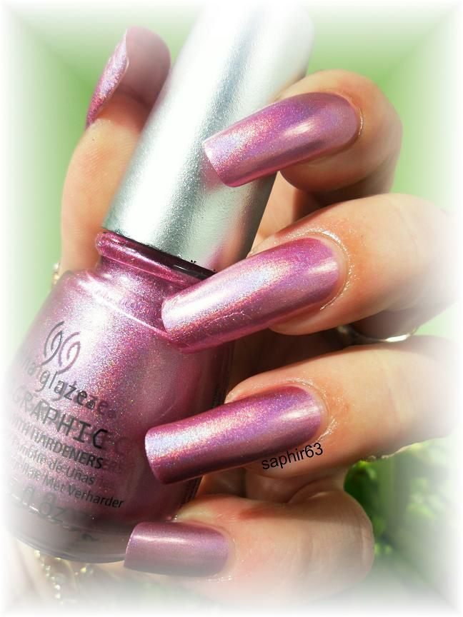 vernis china glaze astro-hot holo - nails papillons