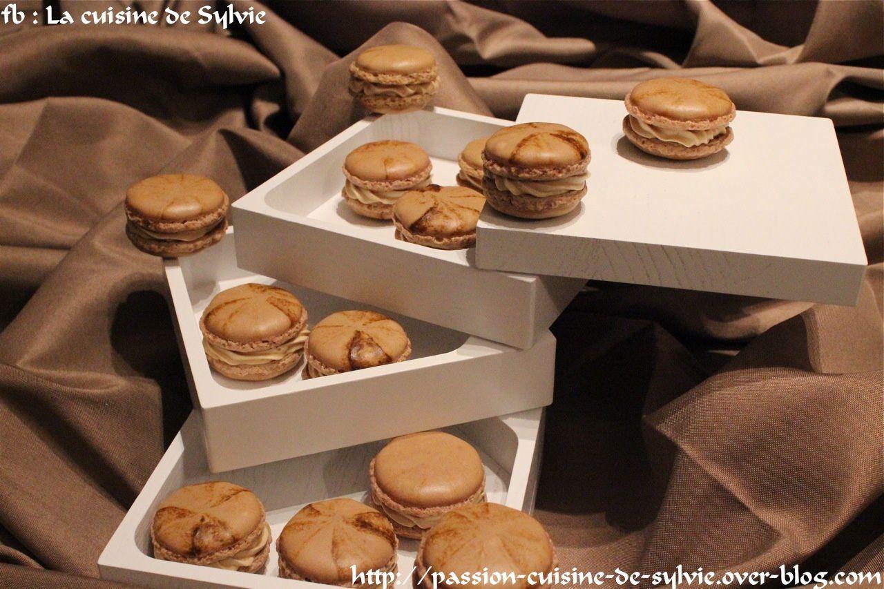 Macarons chocolat au café