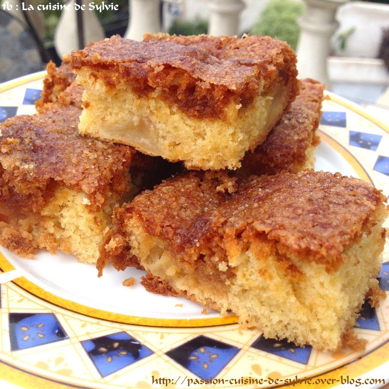 Gâteau aux pommes fondantes au rhum et sirop caramel / rhum