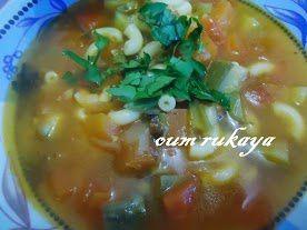 Soupe Italienne aux pâtes et aux légumes