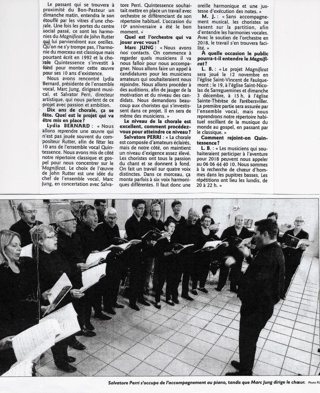REVUE DE PRESSE, R.L. du 20 septembre 2017