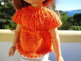 Tuto tunique orange pour poupée chéries de corolle