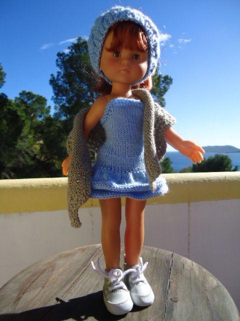 Shawl &quot&#x3B;Abyssal&quot&#x3B; pour poupée chéries de Corolle