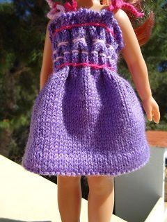 Robe smock au tricot pour poupée chéries de corolle