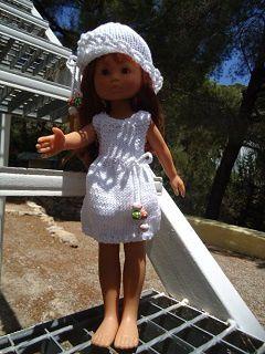Robe blanche pour poupée chéries de corolle