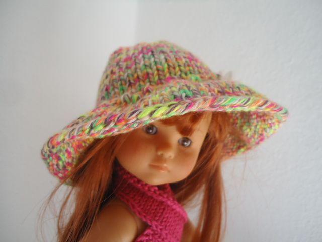 Capeline multicolore pour poupée chéries de corolle