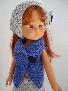 Tuto de la veste sans manche au tricot pour poupée chéries de corolle