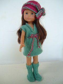La robe verte pour poupée chéries de corolle.