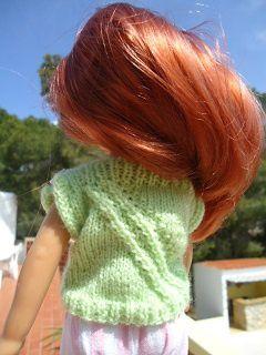 Tuto pull à torsades décalées pour poupée chéries de corolle.