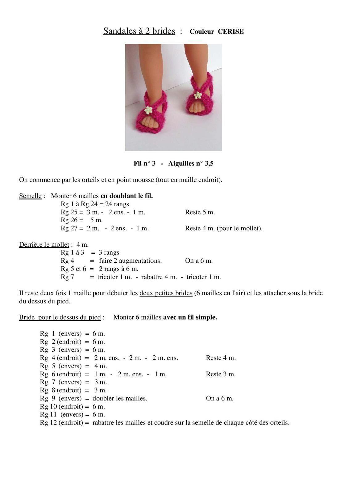 """Souvent Tuto sandales """"cerise"""" pour poupée chéries de corolle - Le blog de  UF38"""