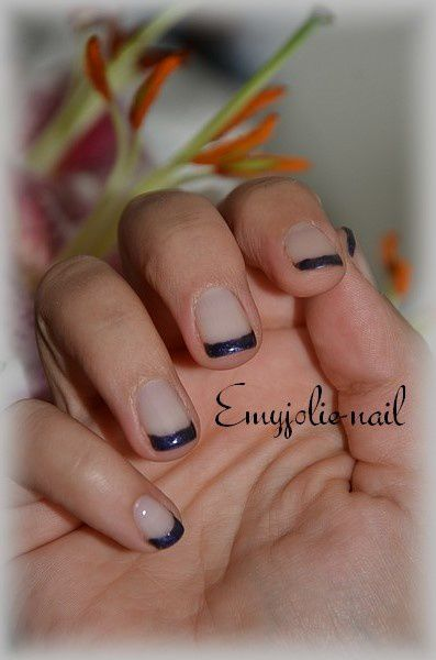 French en vernis semi-permanent et sa déco