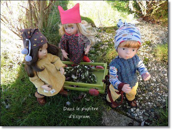 Trois écureuils, sur la bruyère ...