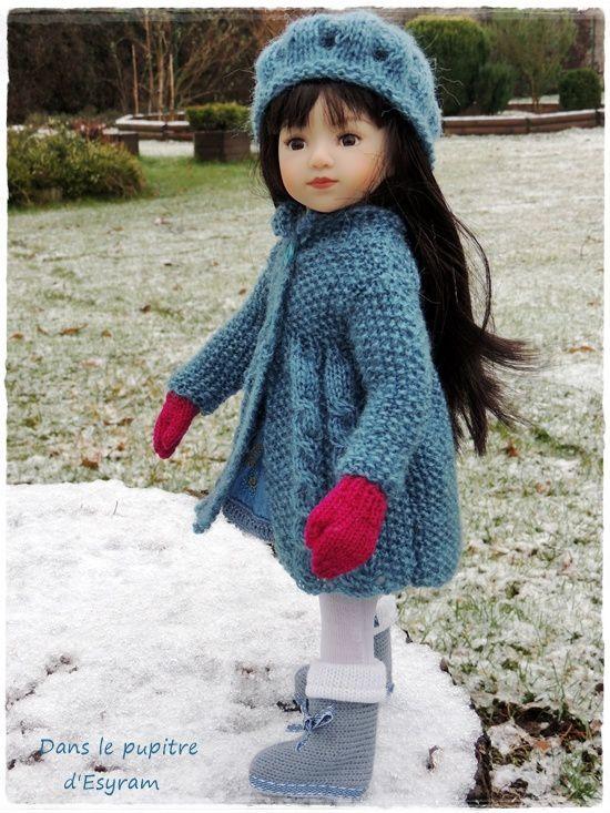 Ottavia et sa première neige