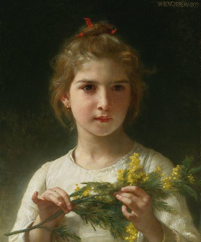 "William Bouguereau ""Mimosa"""