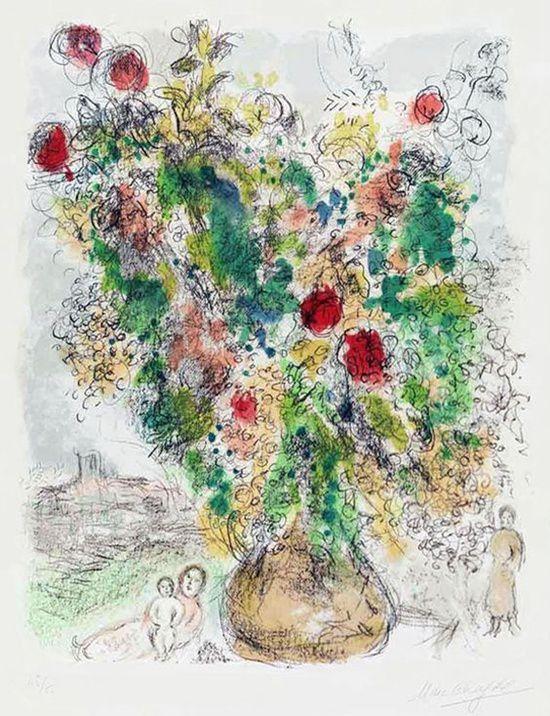 "Marc Chagall ""Mimosa aux fleurs"""