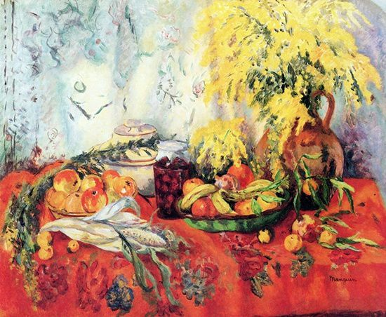 "Henri Manguin  ""Nature morte aux mimosas"""