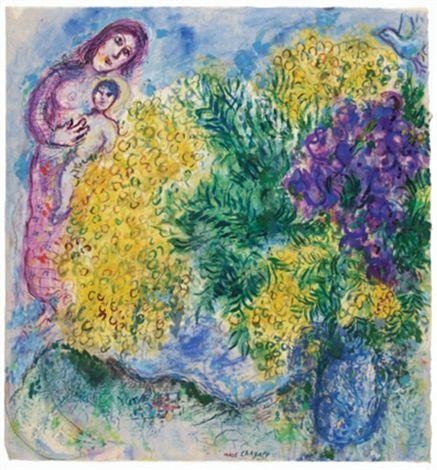 "Marc Chagall ""Mimosa et iris"""