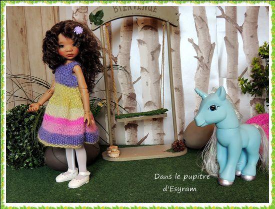 La petite fille et la licorne vagabonde !