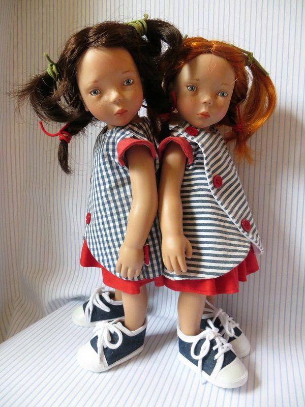 L'ensemble tablier et jupe, version des copines