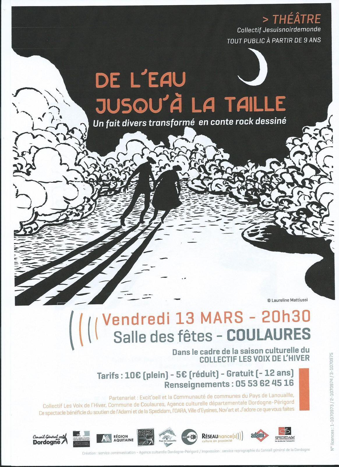 LE CONTE ROCK &quot&#x3B;DE L'EAU JUSQU'A LA TAILLE&quot&#x3B; CE  VENDREDI 13 MARS 2015 A COULAURES