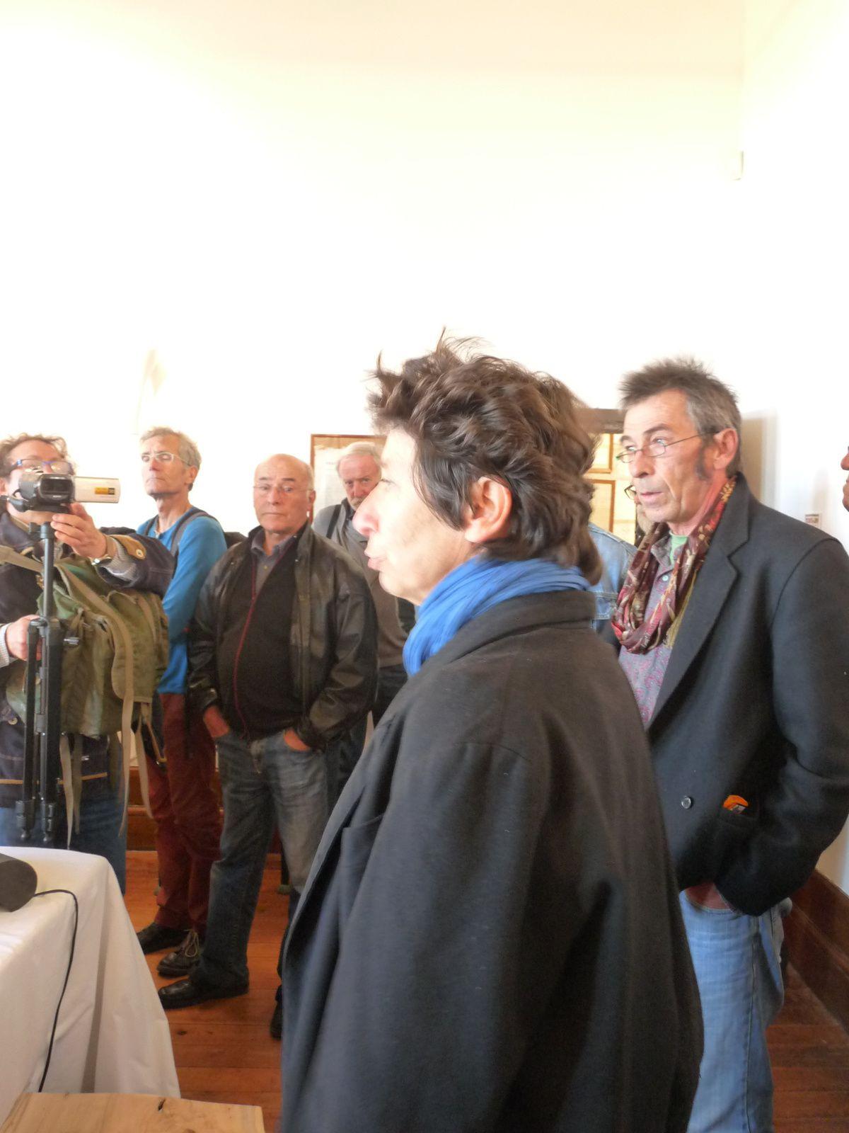 Les Bécheau-Bourgeois(à droite) présente leurs installations