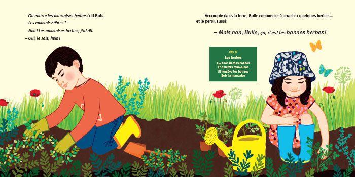Bulle et Bob au jardin.