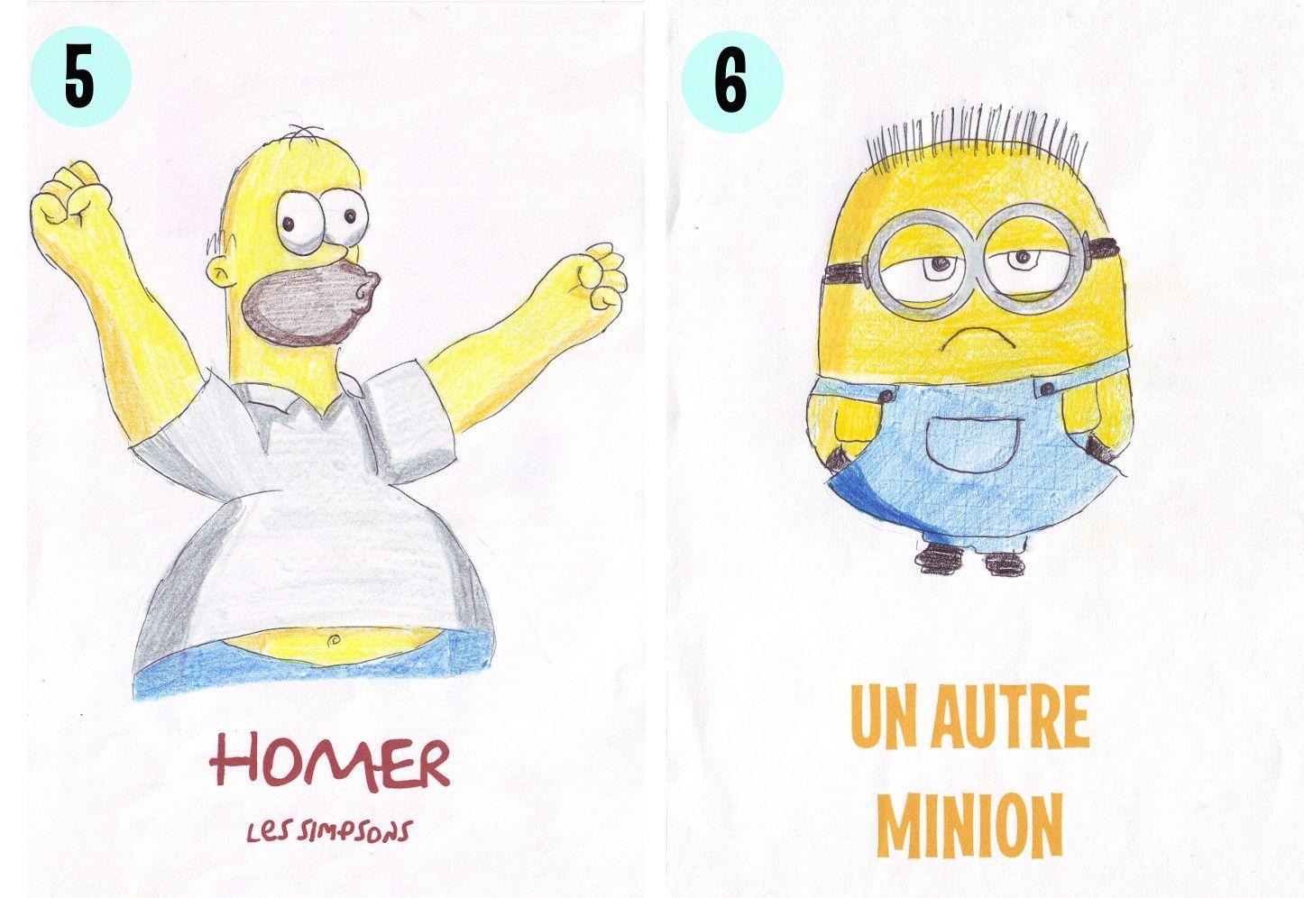 Quelques dessins de personnages de Dessins animés