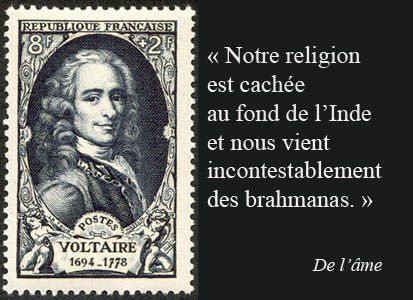 Voltaire et la religion de l'Inde-citation