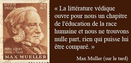 Max Muller et la littérature des Védas-citation