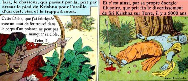 La mort de Krishna, abattu par un chasseur