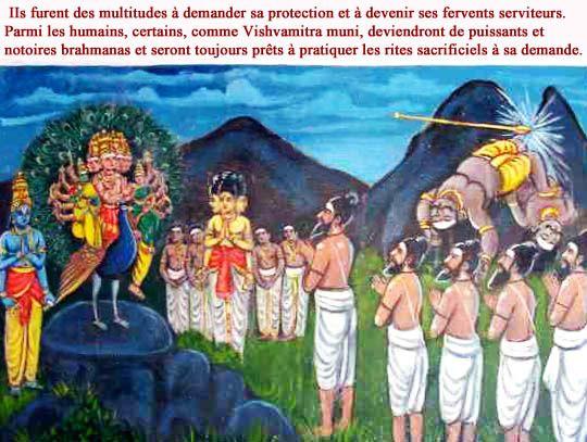 Skanda adoré par les brahmanas