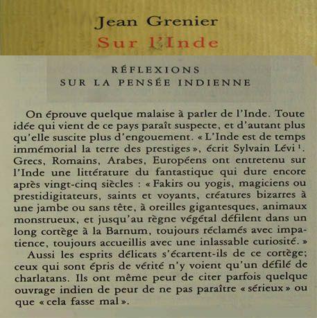 Jean Grenier sur l'Inde-citation-livre