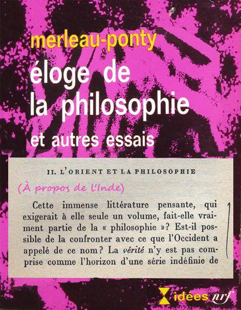 Merleau-Ponty sur l'Inde-livre -citation
