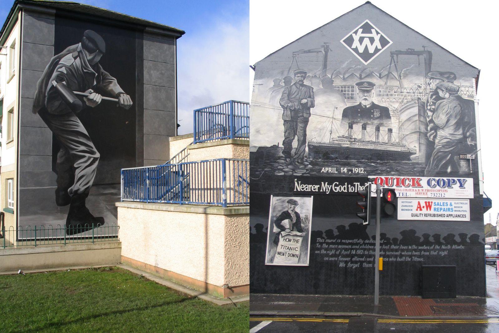 Muralsirlandedunord l histoire des peintures murales d for Mural irlande