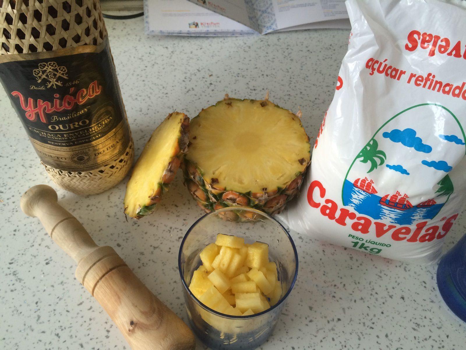 Dans ce prototype, l'ananas est coupé trop fin : pas une bonne idée
