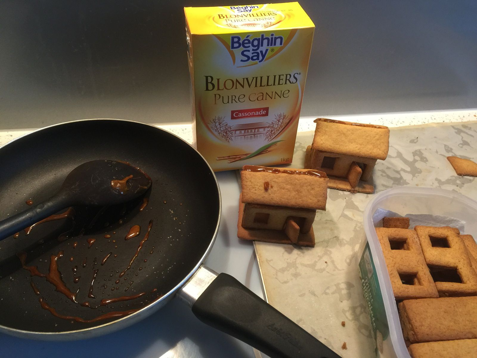 Petites maisons en pain d'épice (moule fait sur imprimante 3D)