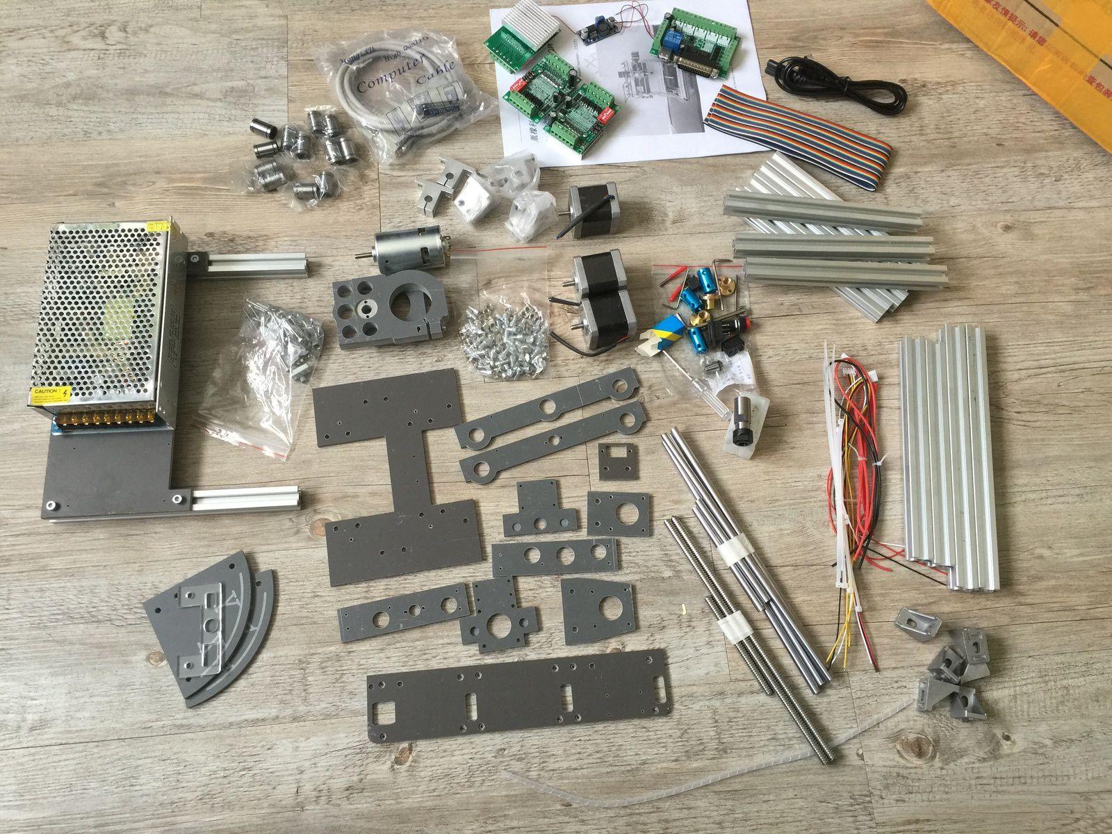 Le kit déballé (remarquer l'alimentation 24V 10A)