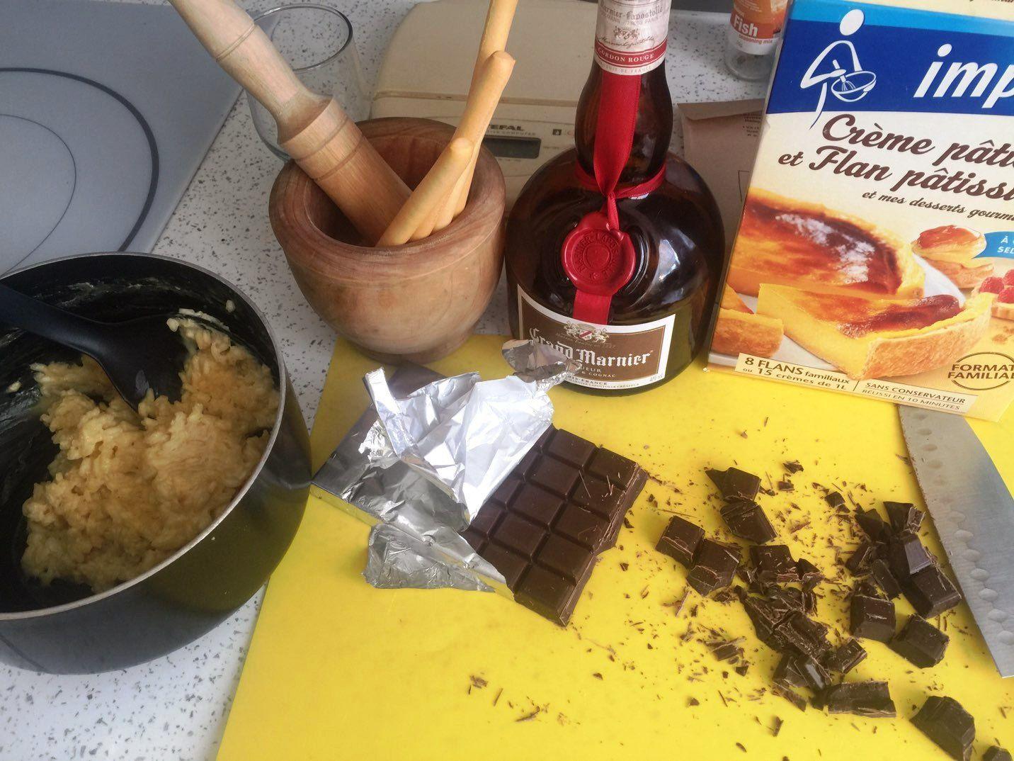 Pret pour la confection des arancinis...