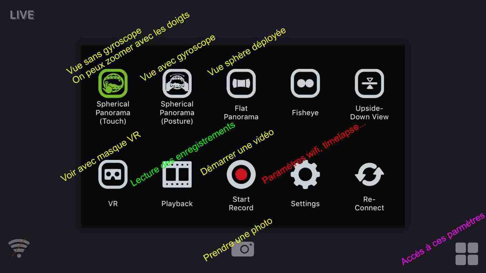 Plein de paramètres sympa dans l'appli. GVT-720i
