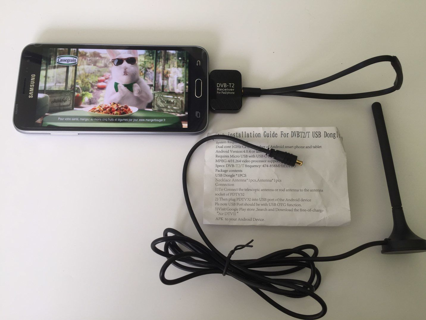 Sur smartphone